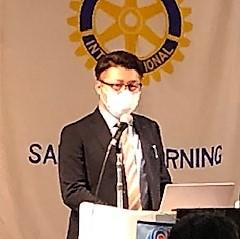 「札幌モーニングロータリークラブ」で卓話をしました。